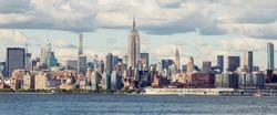 Midtown Manhattan Panorama as seen from Jersey City, USA
