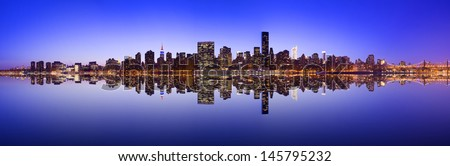 Midtown Manhattan skyline across the East River in New York City. #145795232