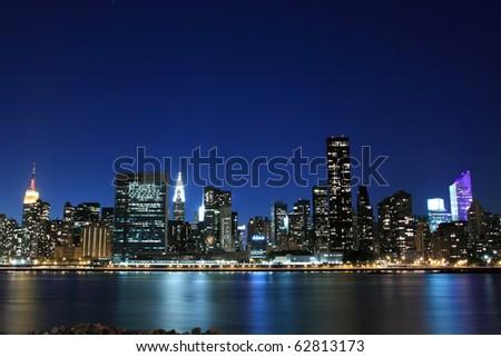 Midtown Manhattan skyline at Night Lights, New York City #62813173
