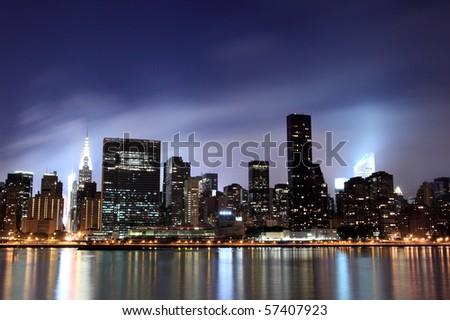 Midtown Manhattan skyline at Night Lights, NYC #57407923
