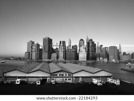 new york city wallpaper black and white. manhattan skyline wallpaper.