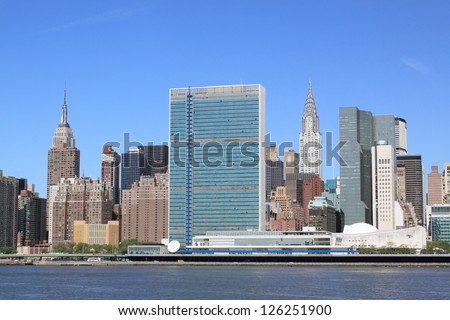 Midtown Manhattan skyline on a Clear Blue Day, New York City