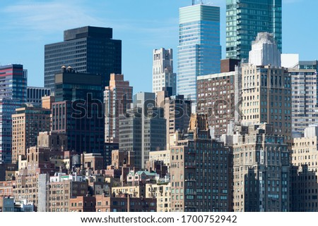 Midtown Manhattan Skyline with Skyscrapers and Buildings in New York City Stock photo ©