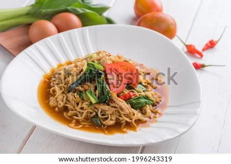 Mie Goreng tek-tek or fried noodles tek-tek from Indonesian Stok fotoğraf ©