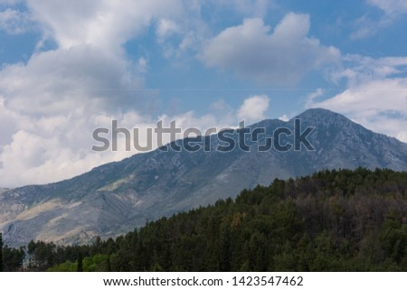 Mignano Montelungo, Italy, panorama. It is located in the high part of Caserta, wedged together with S. Pietro Infine between Lazio and Molise, in an area of great natural and historical interest