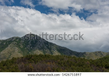Mignano Montelungo, Italy, panorama. It is located in the high part of Caserta, wedged together with S. Pietro Infine between Lazio and Molise, in an area of great natural and historical interest #1426751897
