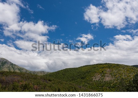 Mignano Montelungo, Italy, panorama. It is located in the high part of Caserta, wedged together with S. Pietro Infine between Lazio and Molise, in an area of great natural and historical interest #1431866075