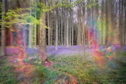 Migraine aura - flashing lights effect, symptom. Medical problem. Visual disturbance and bad headache