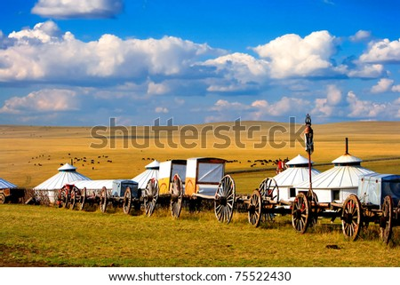 Migration transport in Inner Mongolia, use to migrate from one place to another.