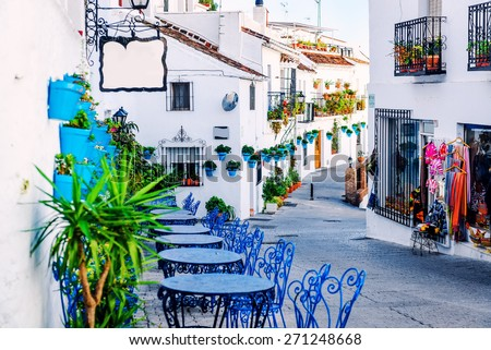 Mijas street. Charming white village in Andalusia, Costa del Sol. Southern Spain  #271248668