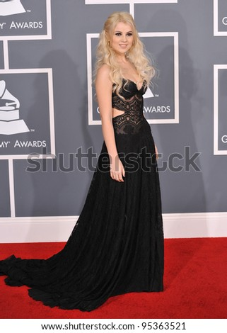 Mika Newton at the 54th Annual Grammy Awards at the Staples Centre, Los Angeles. February 12, 2012  Los Angeles, CA Picture: Paul Smith / Featureflash
