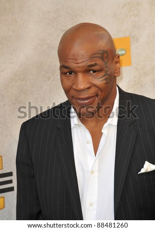 Mike Tyson at Spike TV's Guys Choice Awards 2010 at Sony Studios, Culver City. June 5, 2010  Los Angeles, CA Picture: Paul Smith / Featureflash - stock photo