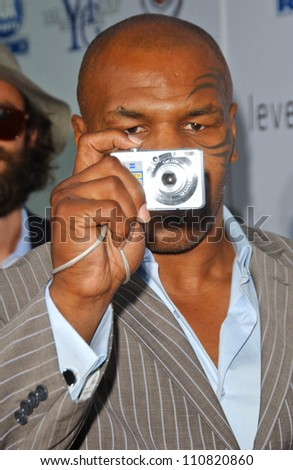 "Mike Tyson at the Los Angeles Premiere of ""Resurrecting The Champ"". Samuel Goldwyn Theater, Beverly Hills, CA. 08-22-07"