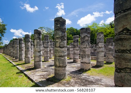 Mil Columnas Ruins at Chichen Itza