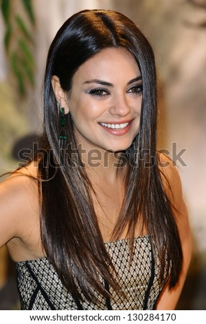 "Mila Kunis arrives for the premiere of ""Oz The Great And Powerful"" at the Empire Leicester Square, London. 28/02/2013 Picture by: Steve Vas"