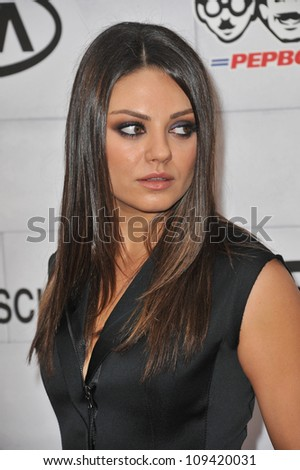 Mila Kunis at Spike TV's 2012 Guys Choice Awards  at Sony Studios, Culver City, CA. June 3, 2012  Los Angeles, CA Picture: Paul Smith / Featureflash