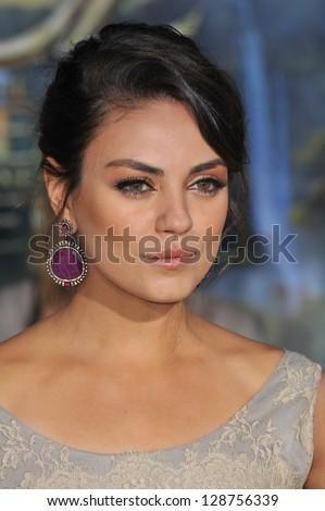 """Mila Kunis at the world premiere of her movie """"Oz: The Great and Powerful"""" at the El Capitan Theatre, Hollywood. February 13, 2013  Los Angeles, CA Picture: Paul Smith"""