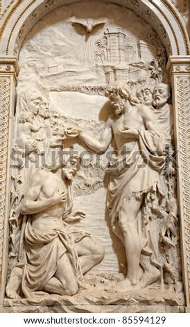 Milan - Baptism of Christ - relief from San Alesandro church