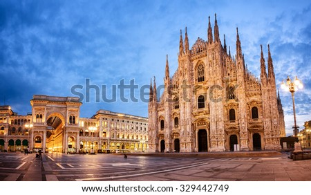 Milan Cathedral, Duomo di Milano, one of the largest churches in the world #329442749