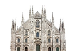 Milan Cathedral (Italian: Duomo di Milano) isolated on white background