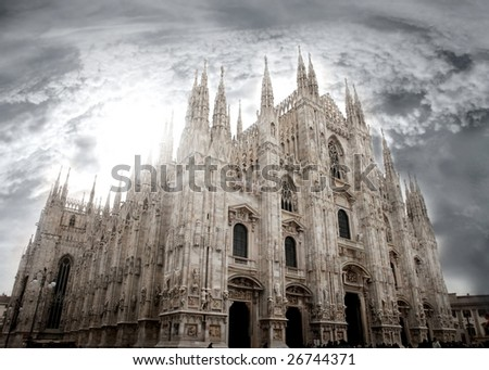 Milan cathedral, know as Duomo,italy
