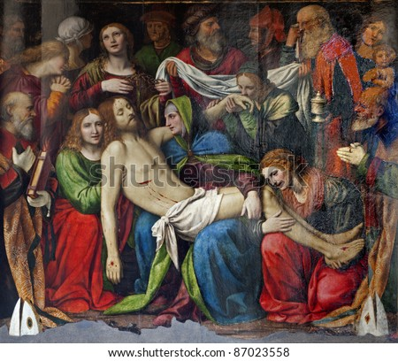 Milan - Deposition of Christ - Cappella della Passione in San Giorgio church by Bernardino Luini, 1516.