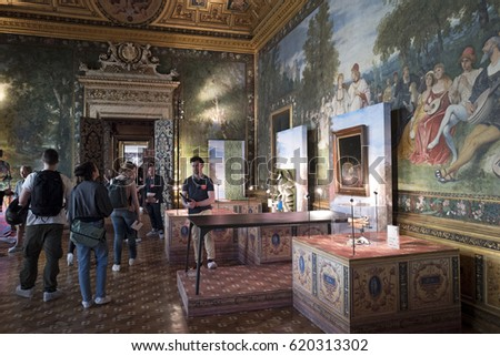 MILAN, ITALY APRIL 06, 2017: Historical Turati Palaceu0027 Interiors Opens As