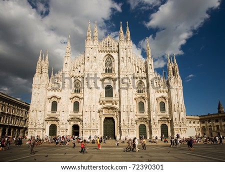 MILAN, ITALY - AUGUST 28: Milan Cathedral on August 28, 2010 in Milan, Italy. Milan's Duomo is the second largest Catholic cathedral in the world.