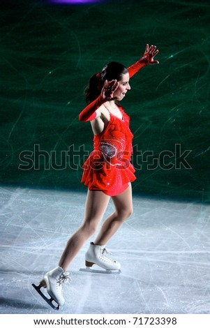 MILAN, ITALY - DECEMBER 18: Valentina Marchei during the Ice Christmas Gala in the Forum Arena, on 18 December, 2010, in Milan, Italy. - stock photo