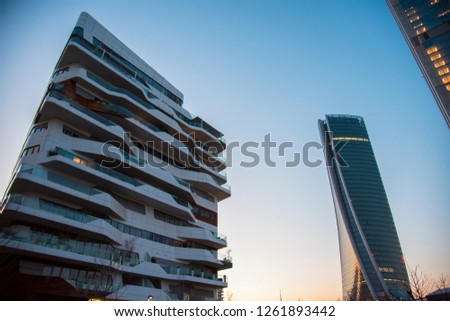 MILAN, ITALY - 3 February 2018. Hadid Tower and residence in CityLife District Milano