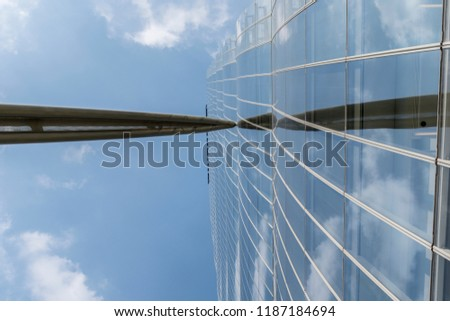 Milan, Italy - July 26, 2017: Milan Tre Torri area, a financial district in the city of Milan, with some of the highest Italian skyscrapers. #1187184694
