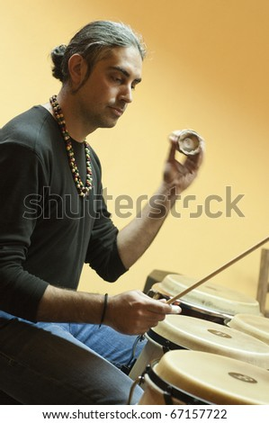 MILAN, ITALY - NOVEMBER 8: percussion concerts and seminars held - November 8, 2010 in Settimo Milanese, Milan. The initiative called 'Percuotiamo' called artists from all over Italy.
