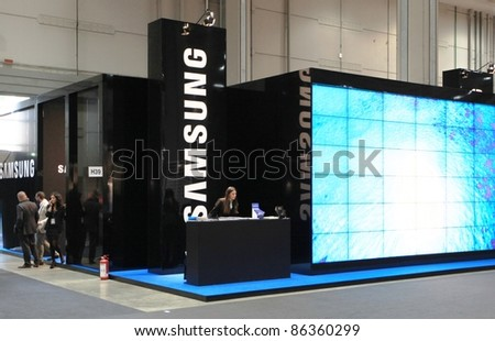 MILAN, ITALY - OCT. 20: Samsung technologies stand during SMAU, international fair of business intelligence and information technology October 20, 2010 in Milan, Italy.