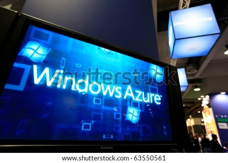 MILAN, ITALY - OCT. 20: Windows Azure presentation at Microsoft stand during SMAU, international fair of business intelligence and information technology October 20, 2010 in Milan, Italy.