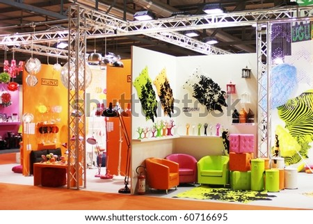 MILAN, ITALY - SEPTEMBER 09: Interior accessories and furnishing stand at Macef, International Home Show Exhibition September 9, 2010 in Milan, Italy.