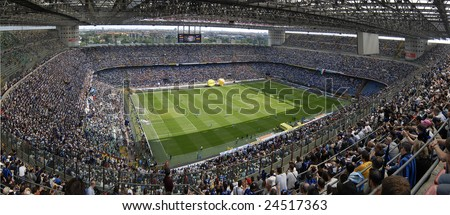 MILAN, MAY 11 : The Italian Championship game of Inter versus Siena was held on May 11, 2008 in Milan, Italy