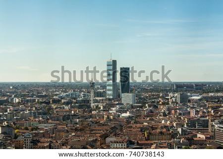 Milan skyline, Italy