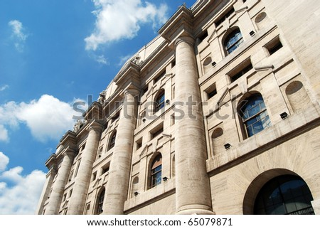 Milan - The Borsa Italiana in Business Square. Based in Milan, is Italy's main stock exchange. I