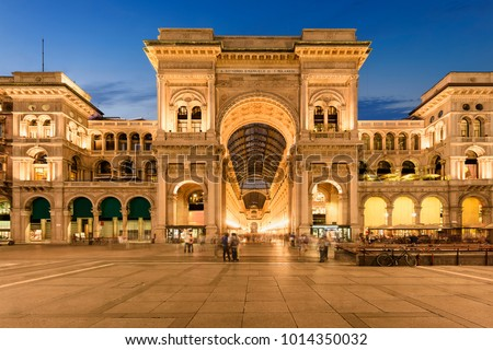 Milano by sunset, Italy. #1014350032