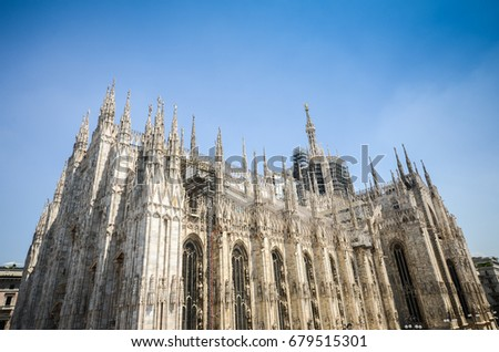 Milano Duomo, one of the biggest Gothic style church in the world
