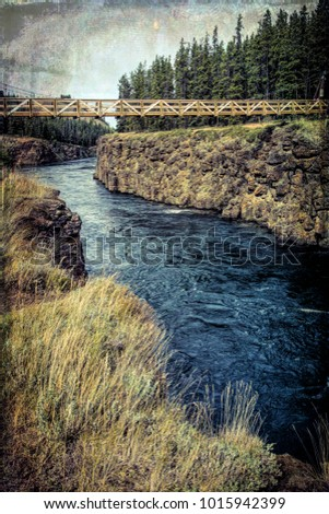miles canyon bridge over the...