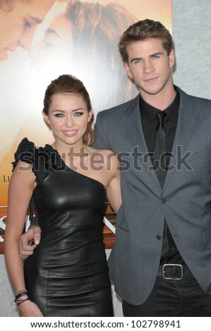 "Miley Cyrus and Liam Hemsworth at ""The Last Song"" World Premiere. Arclight, Hollywood, CA. 03-25-10"