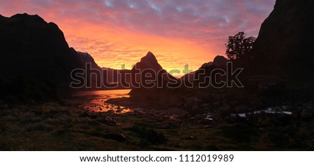 Milford Sound at Sunset #1112019989