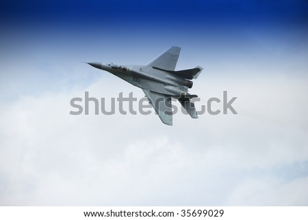 military airplane flying
