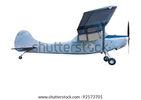 Military airplane isolated on white background.