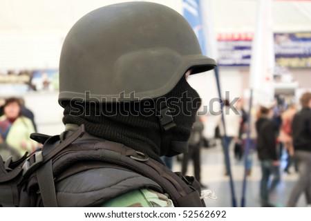 Military army force - war armed men helmet uniform