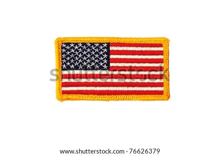 Military army US flag patch