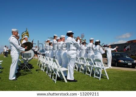 Military band; Navy Band Southwest; Mt Soledad Memorial; San Diego, California