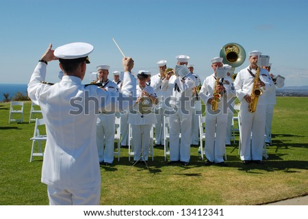 Military band; Navy Band Southwest; Mt Soledad Memorial; San Diego, California