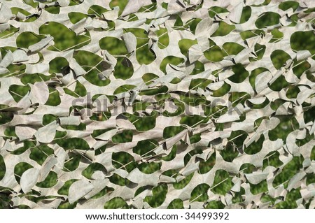 Military camouflage tent as background image